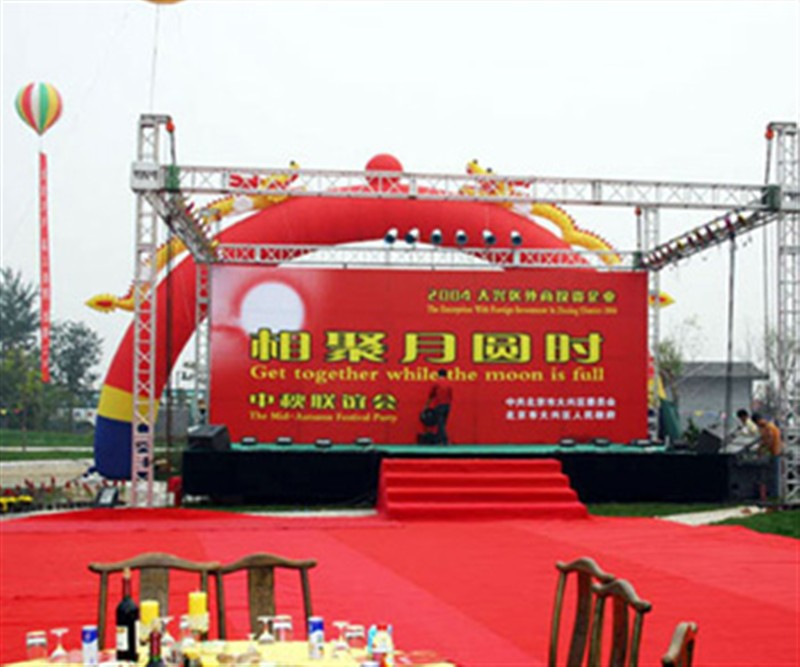 大型舞台背景广告制作